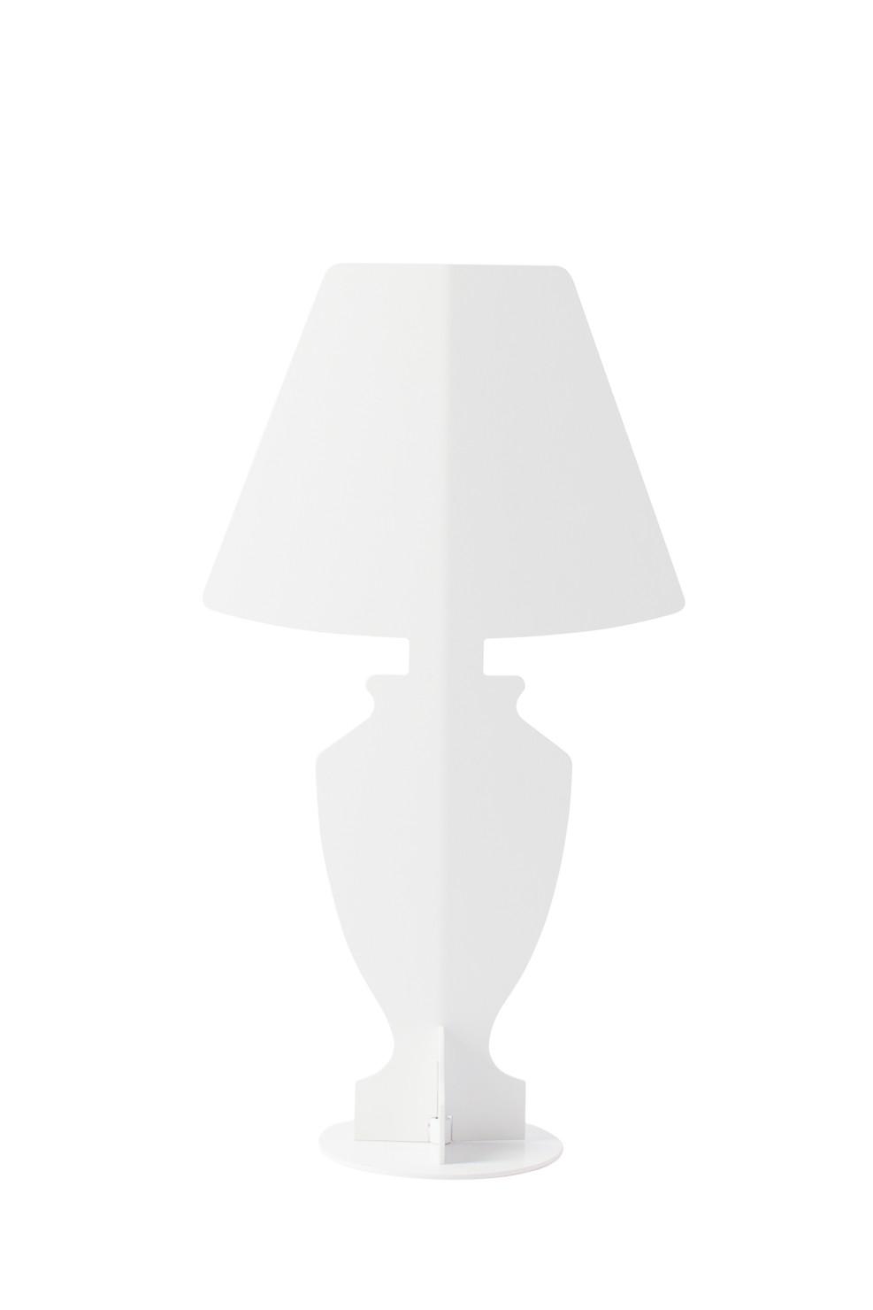 Lampada da tavolo ahua design mini classic bianca made in italy - Lampada da tavolo classica ...